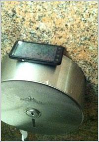 Uno de los teléfonos «perdidos» por Symantec