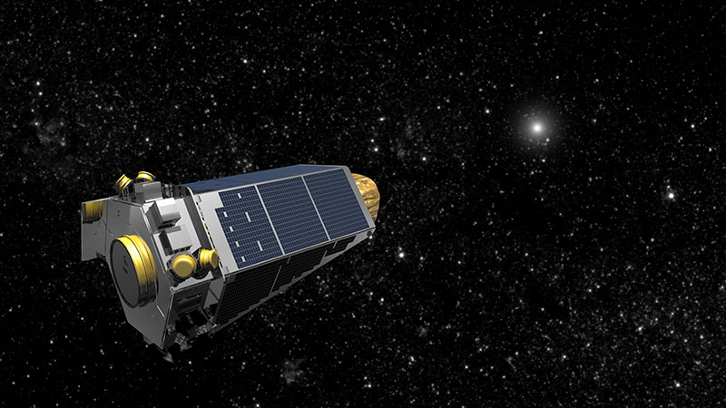 Impresión artística del telescopio espacial Kepler