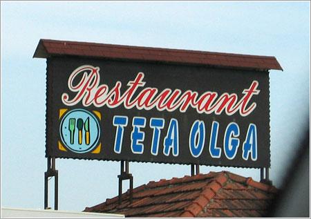 Restaurant Teta Olga por Little Sadie