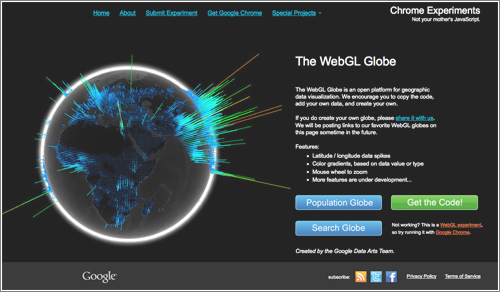 Thewebglglobe