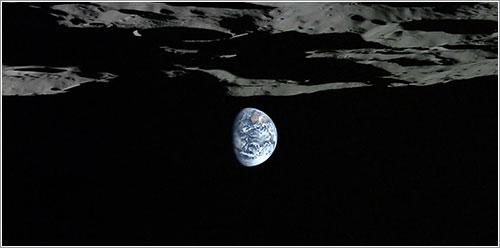 La Tierra vista por la sonda Kaguya
