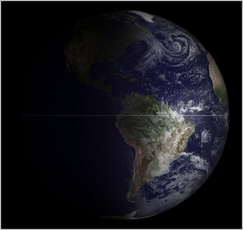 La Tierra en el equinoccio