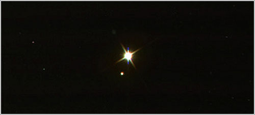 La Tierra y la Luna vistas por la Cassini