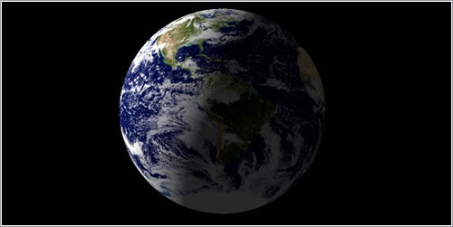 La Tierra en el momento de la toma de la foto
