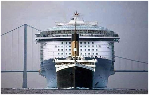 El Titanic y el Allure of the Seas