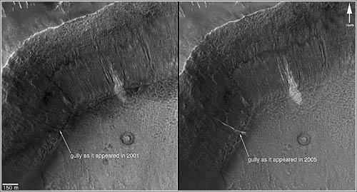 ¿Torrentes en Marte? © NASA/JPL/Malin Space Science Systems