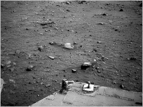 Zona en la que quedó atrapado Spirit - NASA/JPL-Caltech