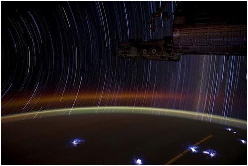 Trazos de estrellas desde la ISS - NASA