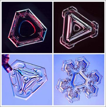 Triangular-Snowflakes