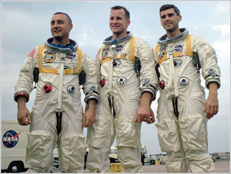 Grissom, White y Chaffee © NASA