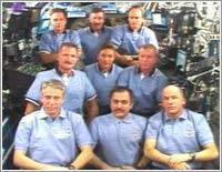Rueda de prensa conjunta de las tripulaciones © NASA TV