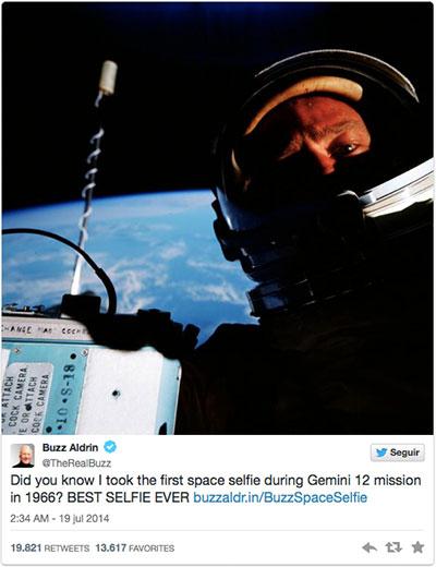 El selfie de Buzz Aldrin