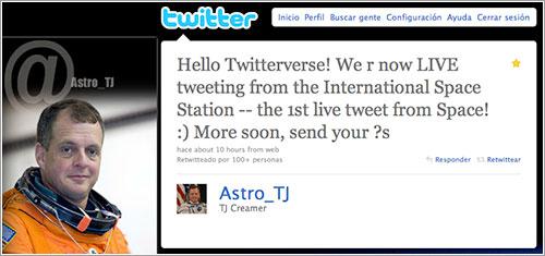 Tweet de Astro_TJ