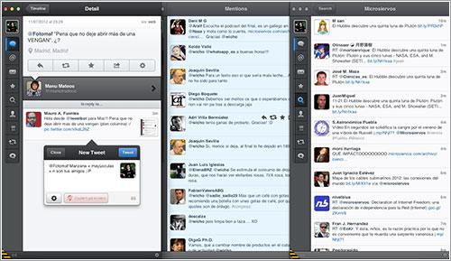Varias ventanas en TweetBot para Mac OS X