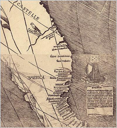 Detalle del Universalis Cosmographia