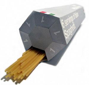 Útil embalaje de espaguettis