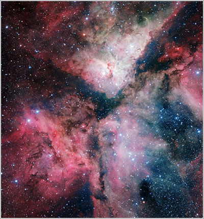La nebulosa de Carina vista por el VST - ESO/VPHAS+ Consortium/Cambridge Astronomical Survey Unit