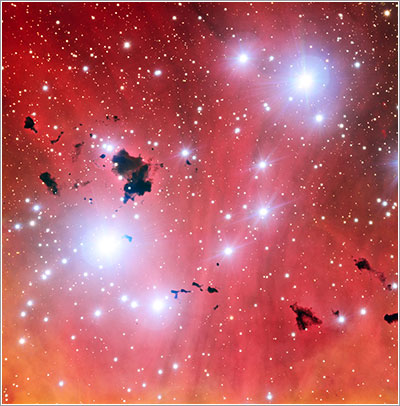IC 2944 vista por el VLT
