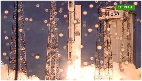 1 segundo después del encendido de la primera etapa - ESA
