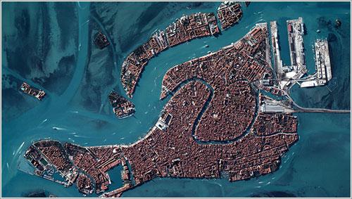 Venecia vista por el Pleiades 1 de la CNES