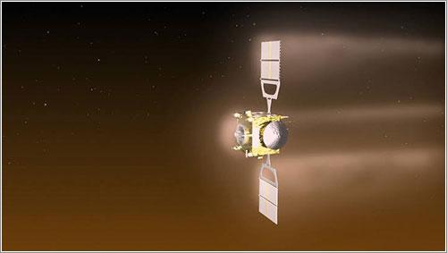 La Venus Express en la atmósfera de Venus