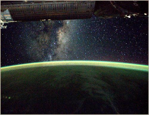 La Vía Láctea desde la ISS - ESA/NASA