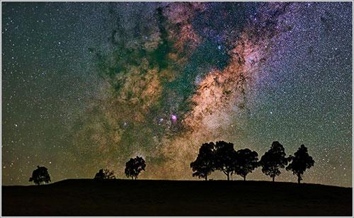 La Vía Láctea por Mike Salway