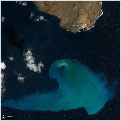 Volcán submarino de El Hierro capturado por el EO-1