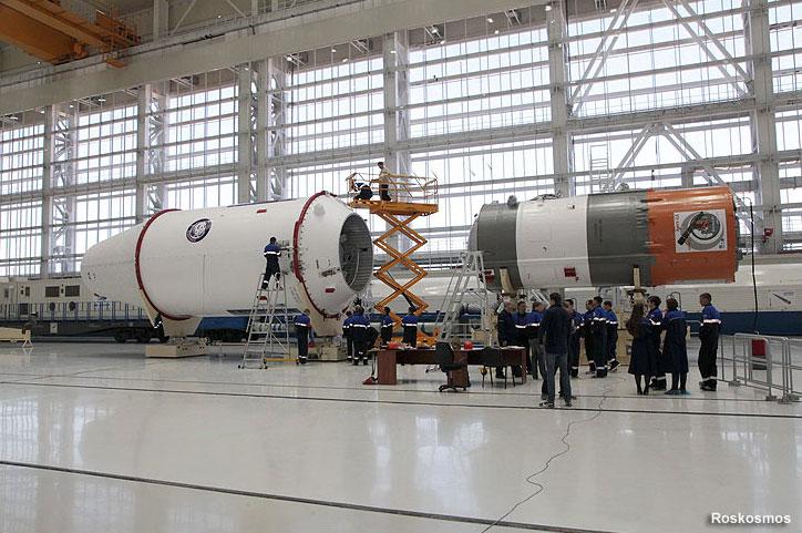 Integración de la carga útil con la tercera etapa