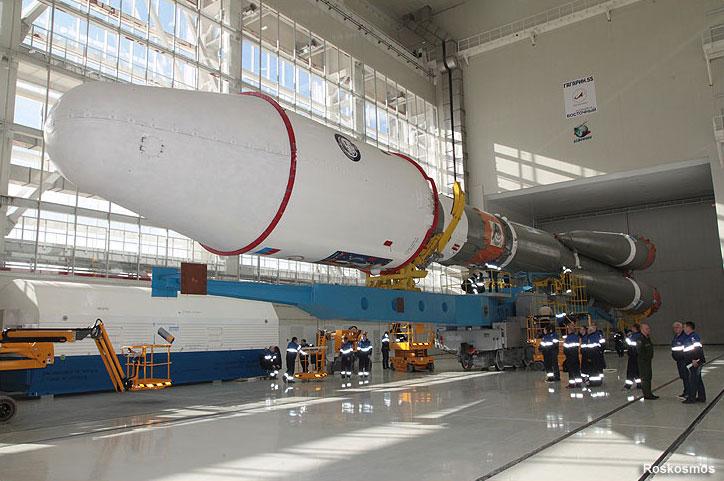 El Soyuz–2 ya ensamblado