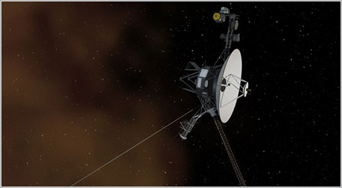 La Voyager1 saliendo de la heliosfera