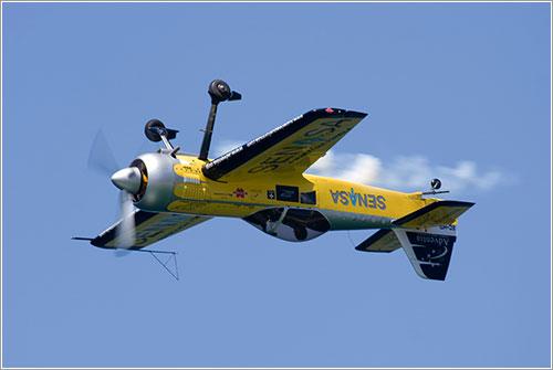 Avión en vuelo invertido