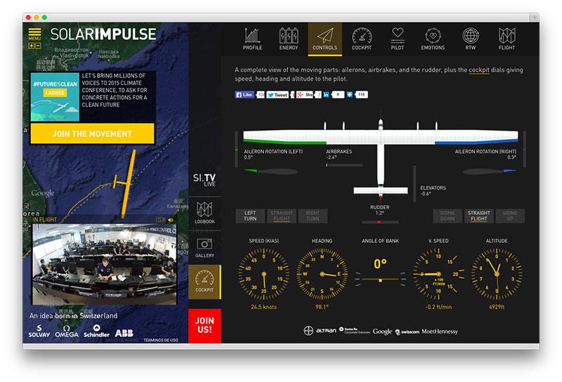 SolarImpulse2 en directo