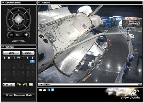 Webcam del Atlantis en el KSCVC