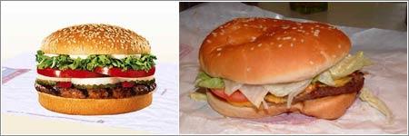 Un par de Whoppers © Burger King / Jeff Kay