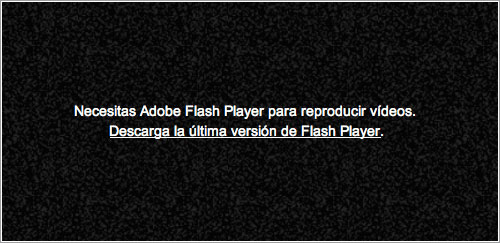 YouTube pidiendo Flash