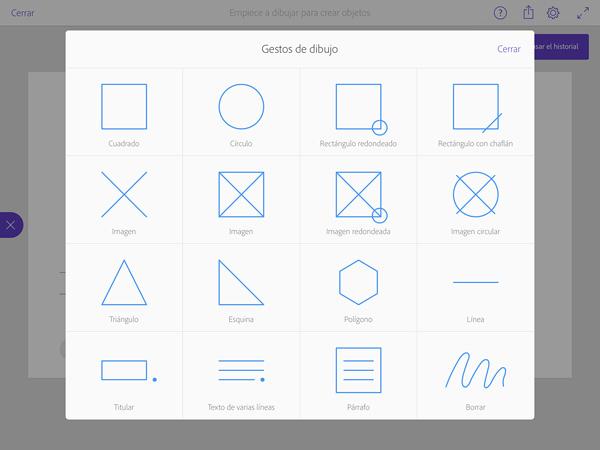 Adobe Comp - App bocetar en el iPad