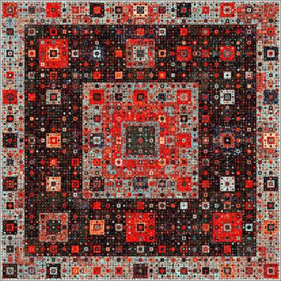 Alfombra fractal (C) Samuel Monier