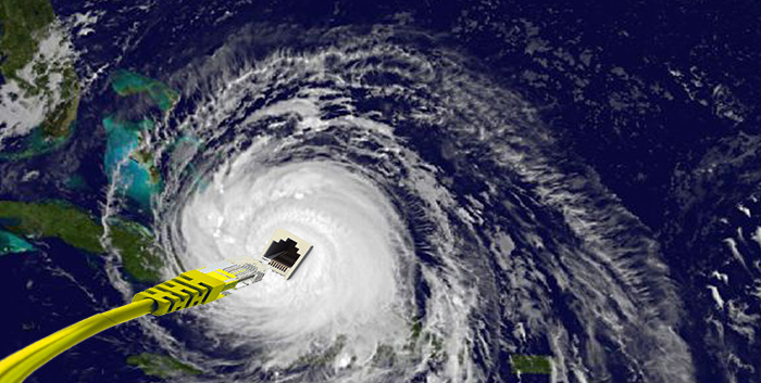 Almacenamiento nube huracan irma
