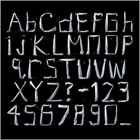 El alfabeto de la ropa de cama