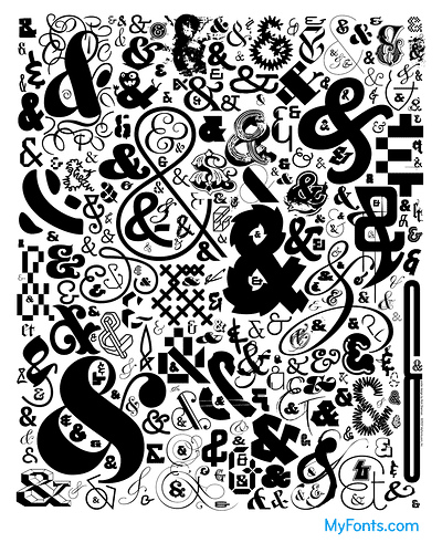 ampersand poster (CC) Nick Sherman for MyFonts