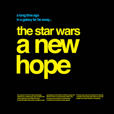 A new hope en helvetica