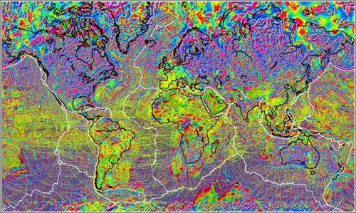 Un mapa de las anomalías magnéticas de nuestro planeta