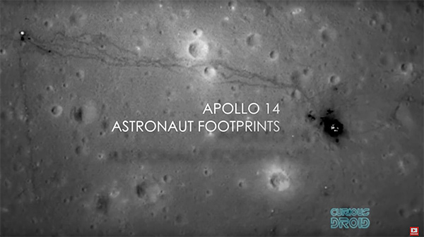 Apollo 14 astronauts footprints