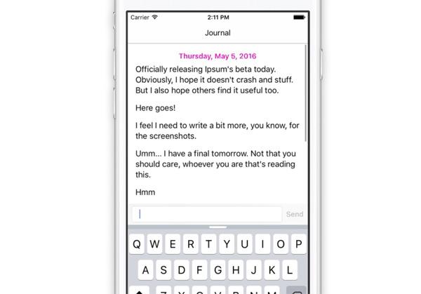 App ipsum mensajeria mismo