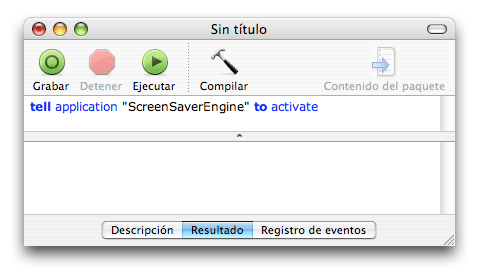 AppleScript Activar Salvapantallas