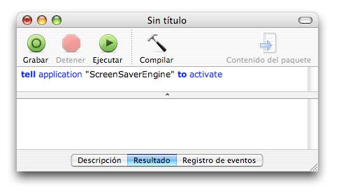 AppleScript Activar Salvapantallas