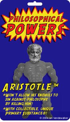 Figurita de Aristóteles y sus Poderes Filosófico