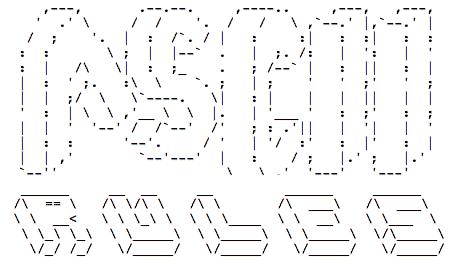 Generador de textos en ASCII Art con tipografías y todo: ASCII Rules!