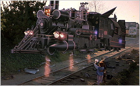Back to the Future III, el tren de «Doc» Brown propulsado con plutonio, © Universal